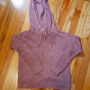 Hippie rose lg knit sweater with hood sz small